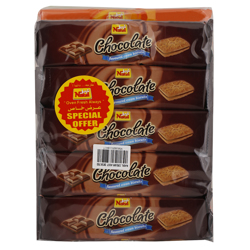 Nabil Chocolate Cream Biscuit 70 gr Pack of 15