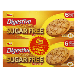 Nabil Digestive Sugar Free Biscuit 250 gr Pack of 2