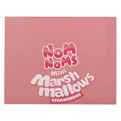 Nom Noms Strawberry Flavour Mini Marshmallow 22 gr Pack of 12