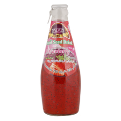 Palazi Strawberry Flavour Basil Seed Drink 290 ml