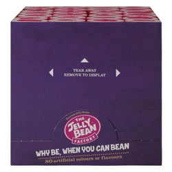 The Jelly Bean Factory Berry Burst 100 gr Pack of 24