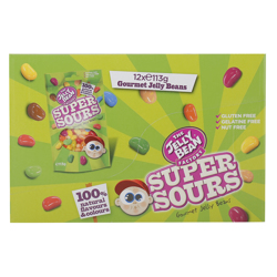 The Jelly Bean Factory Super Sours Flavours 113 gr Pack of 12