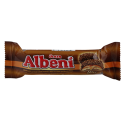 Ulker Albeni Bites Chocolate Coated Caramel Biscuits 72 gr