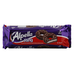 Ulker Alpella Ring Milk Chocolate Coating and Marshmallow Cocoa Biscuit 189 gr