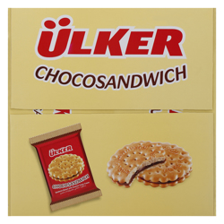 Ulker Chocosandwich Hazelnut Cocoa Cream Biscuits 30 gr Pack of 24