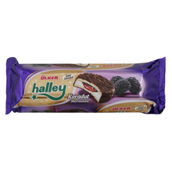 Ulker Halley Black Mulberry Milk Chocolate Sandwich Biscuits 236 gr