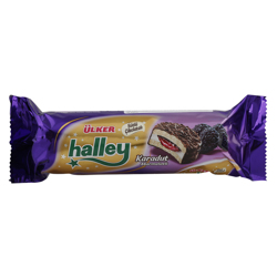 Ulker Halley Black Mulberry Milk Chocolate Sandwich Biscuits 74 g
