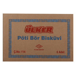Ulker Twin Petit Beurre Biscuits 450 gr Pack of 6