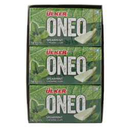 Ulker One Super mint Chewing Gum 27 gr Pack of 18