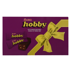 Ulker Mini Hobby Cocoa and Hazelnuts Milk Chocolate Bar 6 gr Pack of 100