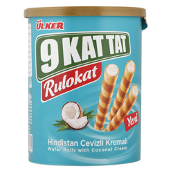 Ulker 9 Kat Tat Rulokat Coconut Cream Wafer Rolls 170 gr