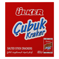Ulker Salted Stick Cracker 30 gr Pack of 24