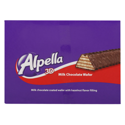 Ulker Alpella 3D Hazelnut Milk Chocolate Wafer 32 gr Pack of 24