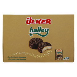 Ulker Halley Chocolate & Marshmallow Cake 23 gr Pack of 24