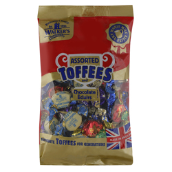 Walkers Assorted Toffees and Chocolate Eclairs 400 gr