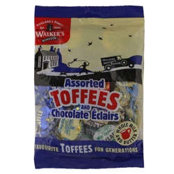 Walkers Assorted Toffees and Chocolate Eclairs 150 gr