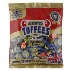 Walkers Assorted Toffees and Chocolate Eclairs 1 kg