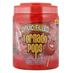 Zed Centre Cola Flavour Liquid Filled Tornado Pop Bubble Gum 33.5 gr Pack of 30