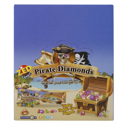 Zed Pirates Diamonds Bibble Gum Nuggets 35 gr Pack of 30