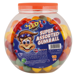 Zed Super Assorted Gum Ball 962 gr