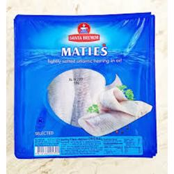 Santa Bremor Matjas Herring Fillet Original In Oil 150gr