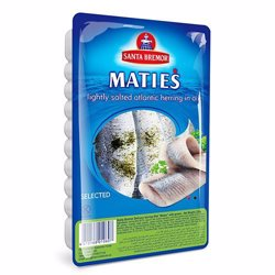 Santa Bremor Matjas Herring Fillet With Herbs 250 gr