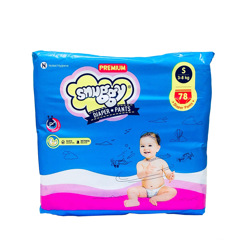 Snuggy Baby Diapers Pants 3-8 kg 78 Pieces