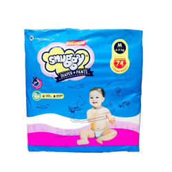 Snuggy Baby Diapers Pants 6-11 kg 74 Pieces
