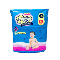 Snuggy Baby Diapers Pants 9-13 kg 62 Pieces