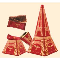 Maxim''s Eiffel Tower Tin Milk Chocolate 70 gr