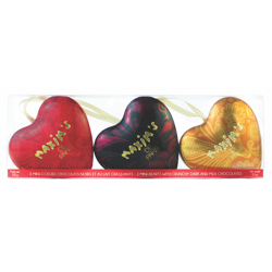Maxim''s Chocolate Box 3 Mini Hearts Gift Pack 150 gr
