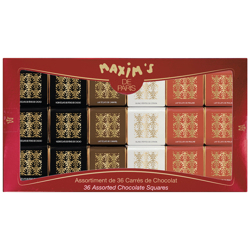 Maxim''s Assorted 36 Chocolate Squares 180 gr