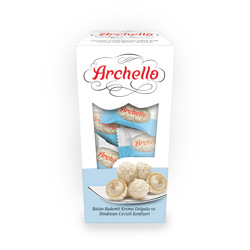 Archello Almond Filled Coconut Coated Wafer 150 gr