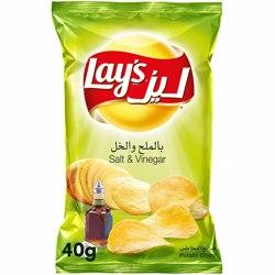 Lay's Salt & Vinegar-40gm (50 Packs/Case)