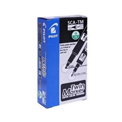 Pilot SCA-TM Twin Marker Pen - Black