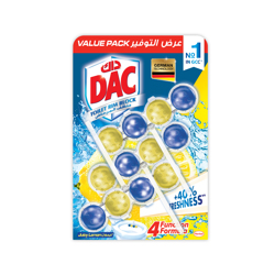 Dac Toilet Cleaner Power Active Lemon Value Pack Ksa-3x50gm