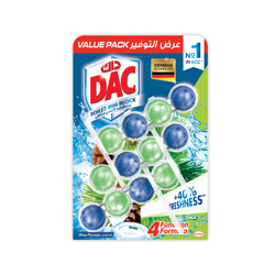 Dac Toilet Cleaner Power Active Pine Value Pack Ksa-3x50gm