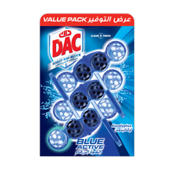Dac Toilet Cleaner Blue Active Eucalyptus Value Pack Ksa-3x50gm