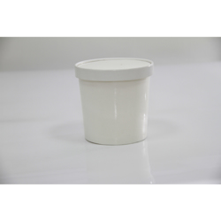 BioWare 500 Piece White Soup Cup 12oz w/ Lid Biodegradable