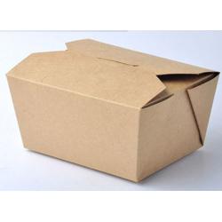 BioWare 450 Piece Kraft Lunch Box Snap Close 600 ml