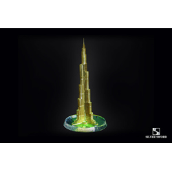 Crystal Gold Plated Burj Khalifa Replica Model-17.5x13x34cm
