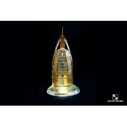 Crystal Gold Plated Burj Al Arab Replica Model-14.9x14x28cm