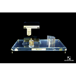 Crystal Gold Plated Holy Kaaba Replica Model-17x13cm