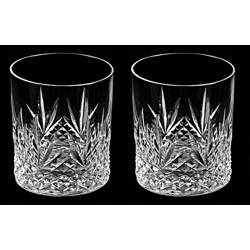 Crystal Handcrafted Juice Glass Diamond Cut Set Of 2-20 cl
