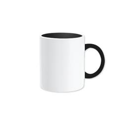 Two Tone Coffee Mug, Black-80x98mm
