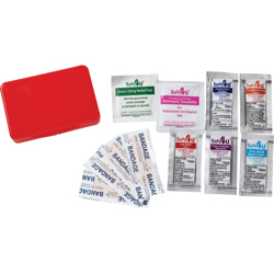 First Aid Kit-Compact (11 Pc Set)-Red