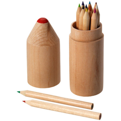 Woody 12Pc Color Pencil Set-Popular Wood