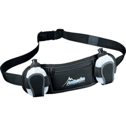Slazenger Reflective Fitness Hydration Belt-Black