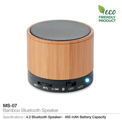 Eco Friendly Bamboo Bluetooth Speaker-5.9x4.9cm