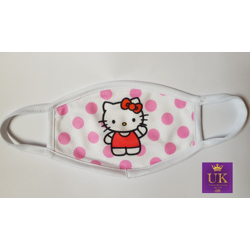 Kids Facemask With Animated Characters-Pink Hello Kitty-17cm